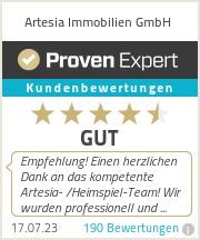 Erfahrungen & Bewertungen zu Artesia Immobilien GmbH