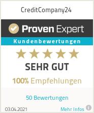 Erfahrungen & Bewertungen zu CreditCompany24