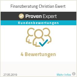 Erfahrungen & Bewertungen zu Finanzberatung Christian Ewert