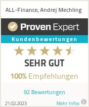 Erfahrungen & Bewertungen zu ALL-Finance, Andrej Mechling