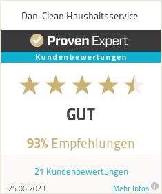 Erfahrungen & Bewertungen zu Dan-Clean Haushaltsservice