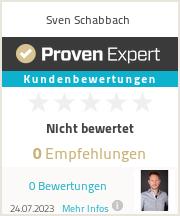 Erfahrungen & Bewertungen zu Sven Schabbach