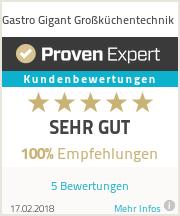 Erfahrungen & Bewertungen zu Gastro Gigant Gro�k�chentechnik