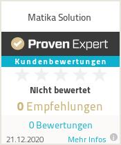 Erfahrungen & Bewertungen zu Matika Solution
