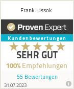 Erfahrungen & Bewertungen zu Frank Lissok