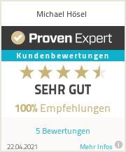 Erfahrungen & Bewertungen zu Michael Hösel
