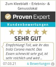 Erfahrungen & Bewertungen zu Zum Kleeblatt - Erlebnis- & Genuslokal