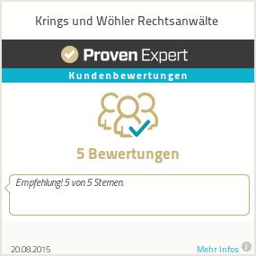 Erfahrungen & Bewertungen zu Krings und Wöhler Rechtsanwälte