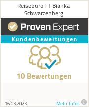 Erfahrungen & Bewertungen zu Reisebüro FT Bianka Schwarzenberg