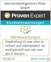 Erfahrungen & Bewertungen zu Sachverständigenbüro Dede GmbH