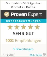 Erfahrungen & Bewertungen zu Suchhafen - SEO Agentur Vincent zu Dohna