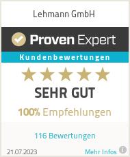 Erfahrungen & Bewertungen zu Lehmann GmbH