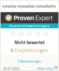 Erfahrungen & Bewertungen zu creative innovative consultants