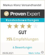 Erfahrungen & Bewertungen zu Markus Klonz Versandhandel