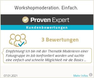 Erfahrungen & Bewertungen zu Workshopmoderation. Einfach.