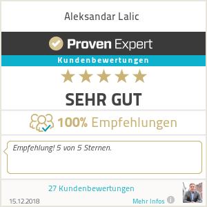 Erfahrungen & Bewertungen zu Aleksandar Lalic