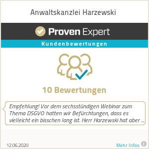 Erfahrungen & Bewertungen zu Anwaltskanzlei Harzewski