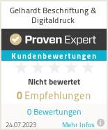 Erfahrungen & Bewertungen zu Gelhardt Beschriftung & Digitaldruck