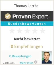 Erfahrungen & Bewertungen zu Thomas Lerche
