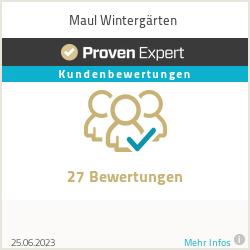 Erfahrungen & Bewertungen zu Maul Wintergärten