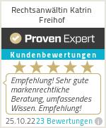 Erfahrungen & Bewertungen zu Rechtsanwältin Katrin Freihof