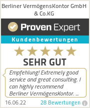 Erfahrungen & Bewertungen zu Berliner VermögensKontor GmbH & Co.KG