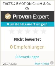 Erfahrungen & Bewertungen zu FACTS 4 EMOTION GmbH & Co. KG