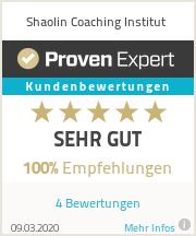 Erfahrungen & Bewertungen zu Shaolin Coaching Institut