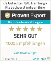 Erfahrungen & Bewertungen zu Kfz Gutachter NAD Hamburg - Sachverständigenbüro