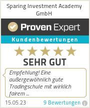 Erfahrungen & Bewertungen zu Sparing Investment Academy GmbH