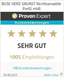 Erfahrungen & Bewertungen zu BUSE HERZ GRUNST Rechtsanwälte PartG mbB