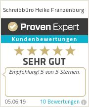 Erfahrungen & Bewertungen zu Schreibbüro Heike Franzenburg