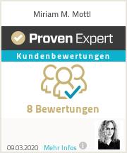 Erfahrungen & Bewertungen zu Miriam M. Mottl