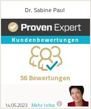 Erfahrungen & Bewertungen zu Dr. Sabine Paul