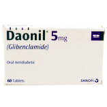Get Daonil 5mg Tablets Online Cash on Delivery - Uses, Side effects, Dose, Price, Sale