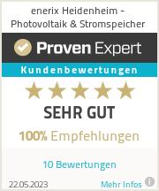 Erfahrungen & Bewertungen zu enerix Heidenheim - Photovoltaik & Stromspeicher