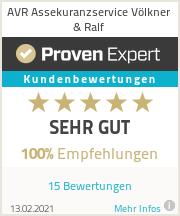 Erfahrungen & Bewertungen zu AVR Assekuranzservice Völkner & Ralf