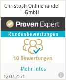 Erfahrungen & Bewertungen zu Christoph Onlinehandel GmbH