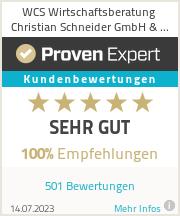 Erfahrungen & Bewertungen zu WCS Wirtschaftsberatung Christian Schneider GmbH & Co.KG