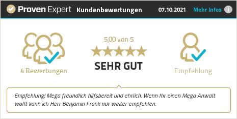 Kundenbewertungen & Erfahrungen zu Benjamin Frank. Mehr Infos anzeigen.
