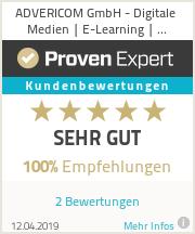 Erfahrungen & Bewertungen zu ADVERICOM GmbH - Digitale Medien | E-Learning | Multimedia