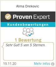 Erfahrungen & Bewertungen zu Alma Drekovic