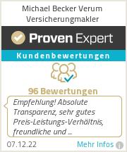 Erfahrungen & Bewertungen zu Michael Becker Verum Versicherungmakler