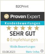 Erfahrungen & Bewertungen zu B2CPrint