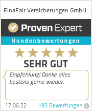 Erfahrungen & Bewertungen zu FinaFair Versicherungen GmbH