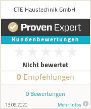 Erfahrungen & Bewertungen zu CTE Haustechnik GmbH