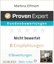 Erfahrungen & Bewertungen zu Martina Effmert
