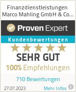 Erfahrungen & Bewertungen zu Finanzdienstleistungen Marco Mahling GmbH & Co. KG