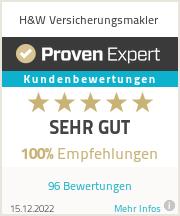 Erfahrungen & Bewertungen zu H&W Versicherungsmakler