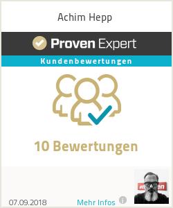 Erfahrungen & Bewertungen zu Achim Hepp